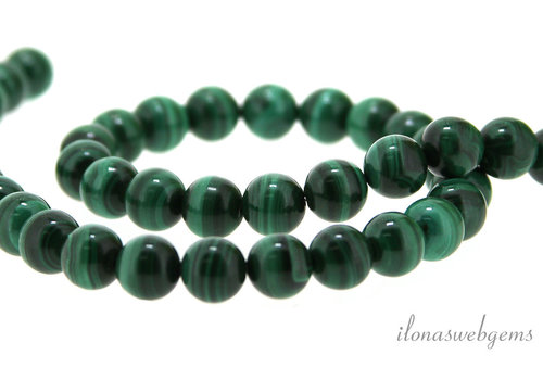 Malachite beads around 8 mm