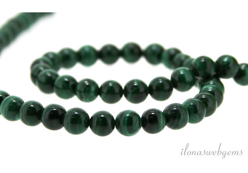 Malachite beads around 6 mm