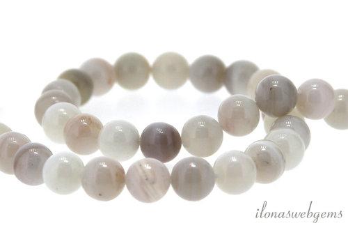 White agate beads around ca. 8.5mm