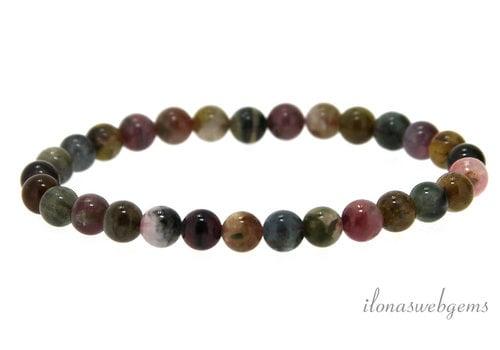 Tourmaline beads around bracelet A quality approx. 6mm