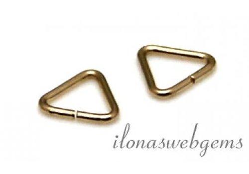 10x 14k/20 Gold filled lock-in triangel ca. 5x0.65mm