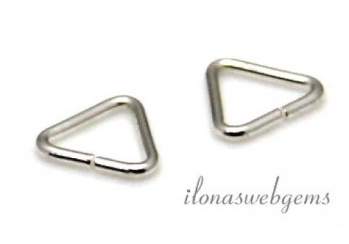 1x Sterling silver lock-in triangle approx. 5x0.65mm