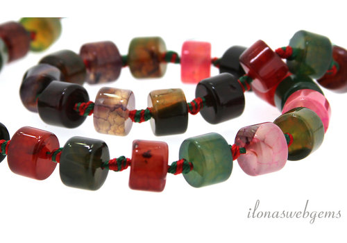 Fire Agate beads around 10x7.5mm