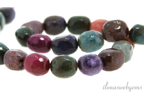 Fire Agate beads around 15x12mm