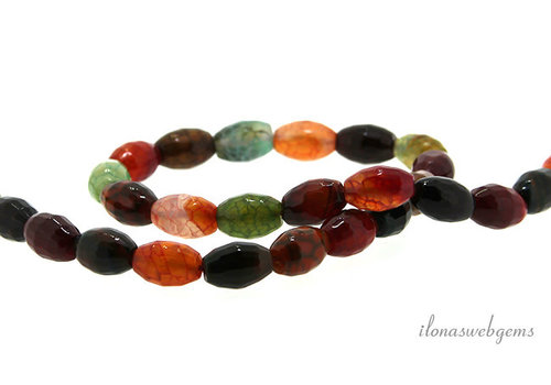 Fire Agate beads around 12x8mm