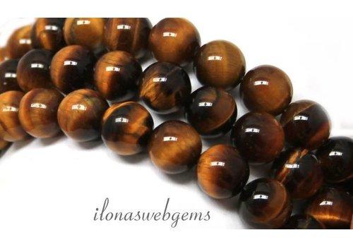 Tigereye Perlen ca. 12mm