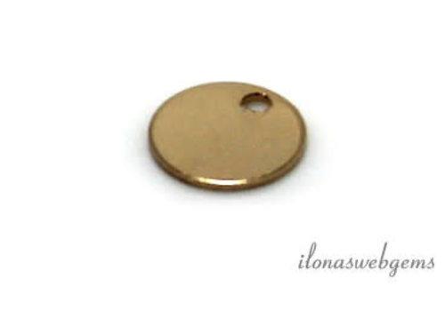 14K / 20 Goldfilled Etikett um 6mm