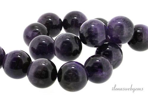 Amethyst beads around 20 mm