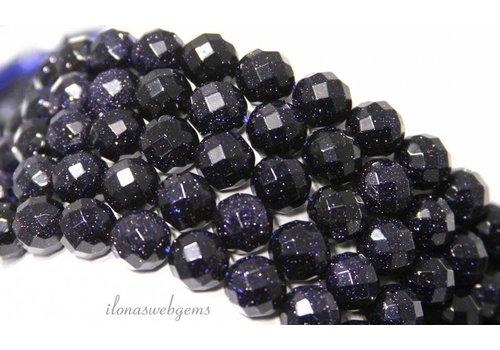 Blaue Goldsteinperlen groß facettiert um 12mm