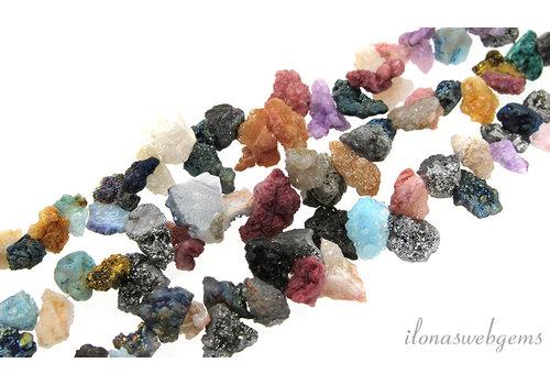Druzy Agate beads rough around 16x10mm