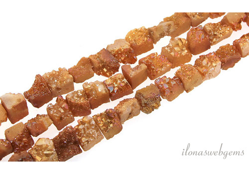 "Druzy Agate beads ""rectangle"" around 13x10mm"