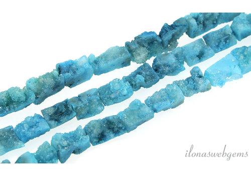 "Druzy Agate beads ""rectangle"" around 18x8mm"