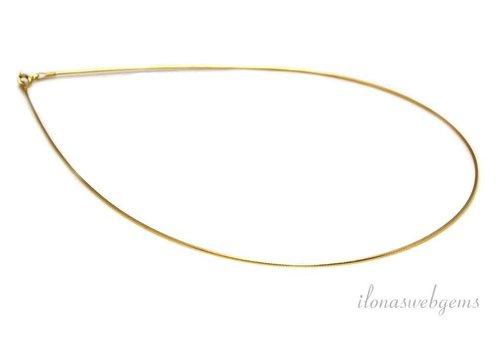Vermeil Omega Halsband 50 cm