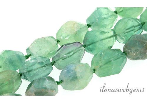 """Fluorite beads """"Free shape"""" around 17x14mm"""