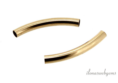 Gold filled buiskraal 25x3mm