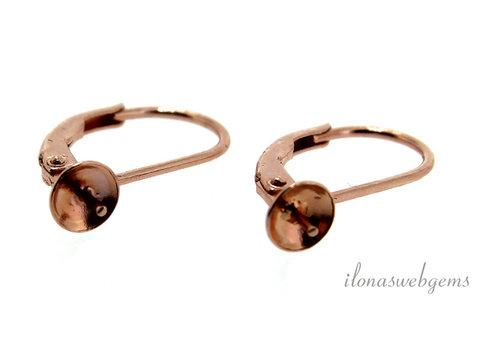 Rose earring hooks 1