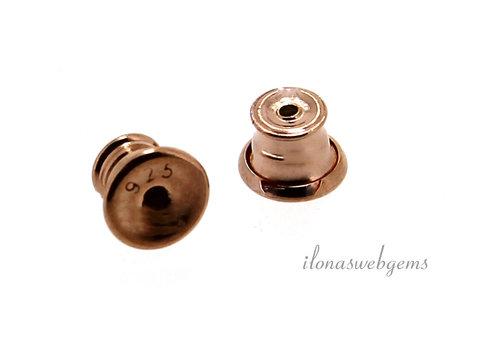 1 Paar Rosé vermeil poussettes ca. 5mm