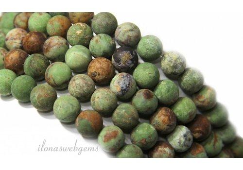 Groene Opaal kralen mat rond ca. 10mm