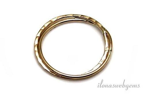 14k/20 Gold filled gesloten oog/ring ca. 17 mm