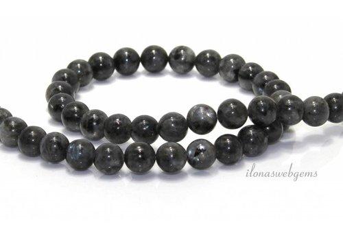 Larvikite beads around 5 mm