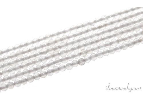 White agate beads around 2mm