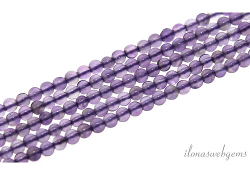Amethyst beads round mini about 2mm