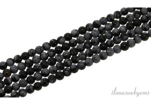 Schneeflocke Obsidian Perlen Mini um 2mm