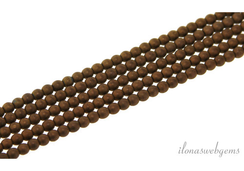 hematiet kralen mat rond ca. 3,5mm