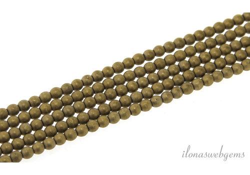 hematiet kralen mat rond ca. 3.5mm