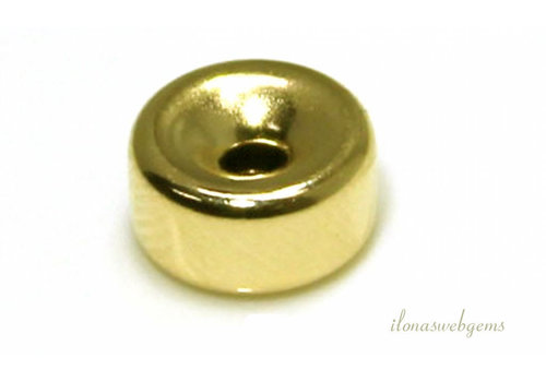 Vermeil roundel approx. 3x1.5mm