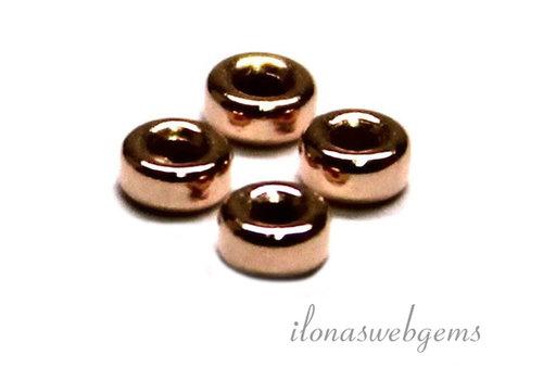Rosé Vermeil Rondell ca. 3x1,5mm