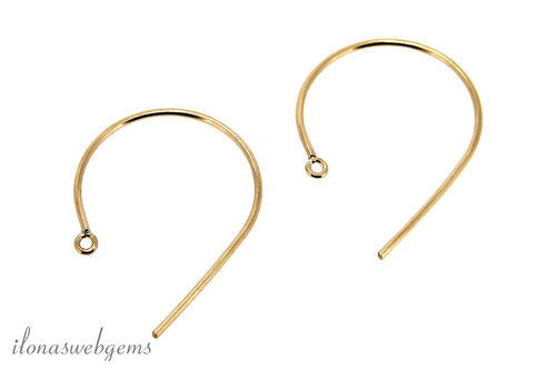 1 pair of Gold filled ear hooks around 29mm