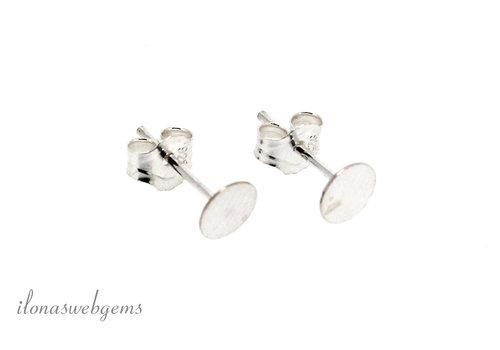 Oorknopjes sterling zilver ca. 11x5mm
