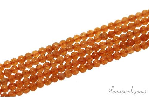 Aventurien kralen rond mini oranje ca. 2mm