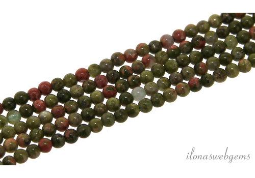 Unakite beads around mini around 2mm