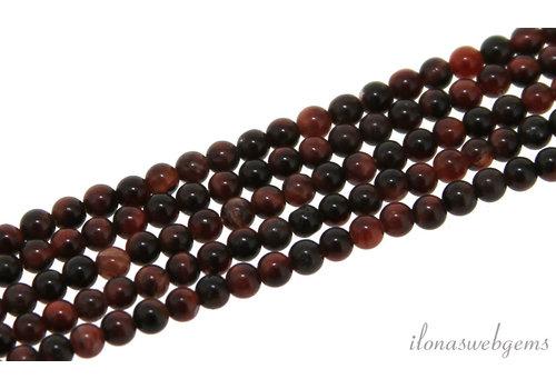 Rote Tigerauge Perlen um Mini herum ca. 2mm