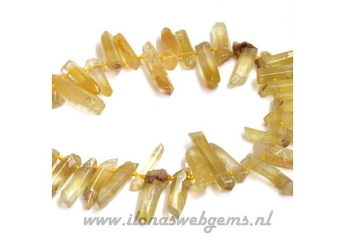 Yellow Opal side drill approx. 20-40x6mm
