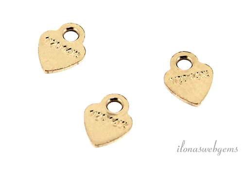 Gold filled labeltje hart ca. 3.5mm
