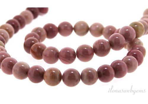 Chinesische Rhodonit Perlen um ca. 8,5mm
