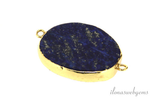 Lapis Lazuli Gold plated connector ca. 30x25mm