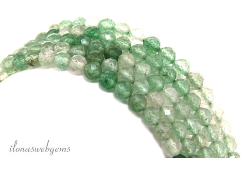 Green Strawberry beads facet around ca. 4mm AA quality cut
