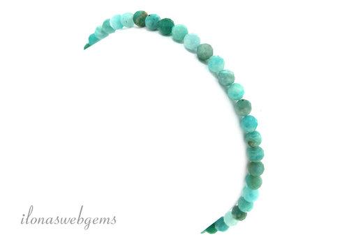 Amazonite Perlen rundes facettiertes Armband ca. 4,5mm
