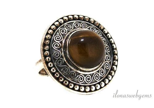 Sterling zilveren ring met Tijgeroog