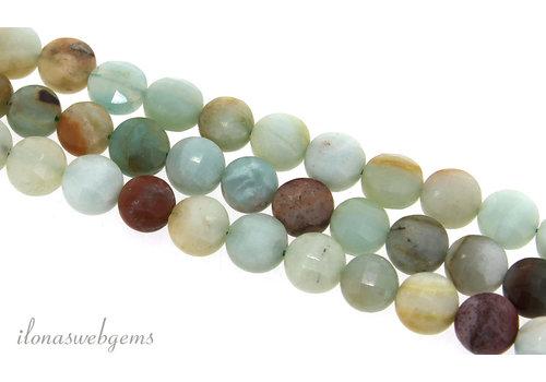 Amazonite beads coins around 8.5x6mm