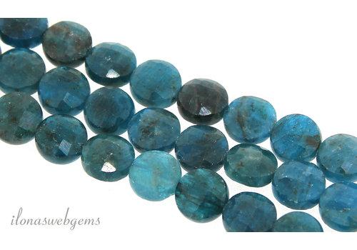 Apatite beads coins around 8.5x5mm