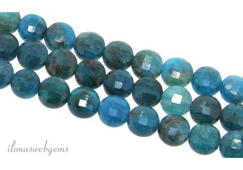 Apatite beads coins around 6x5mm