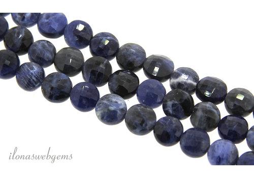 Sodalite beads coins around 7.5x5.5mm
