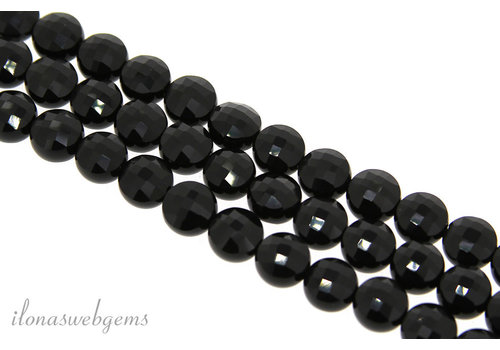 1x Onyx bead coin facet ca. 8mm