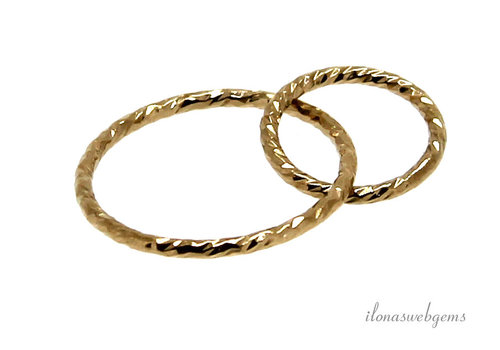 Gold filled ringen ca. 15+10mm