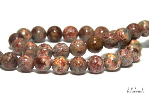 Leopard skin Jasper beads around 12mm